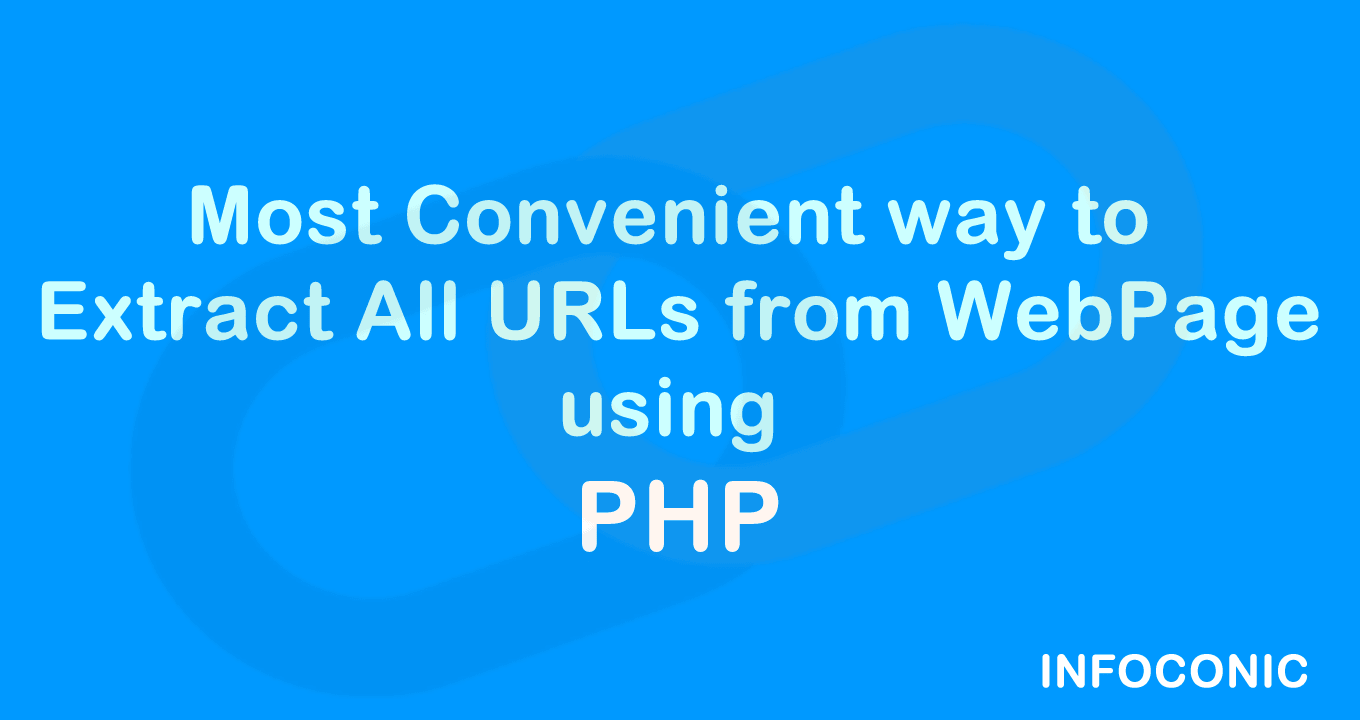 Most convenient way to Extract URLs from webpage using PHP